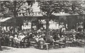 La Closerie des Llilas hacia 1909 (Wikipedia)