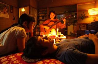 Fotograma de la película Tokio Blues basada en el libro homónimo de Murakami