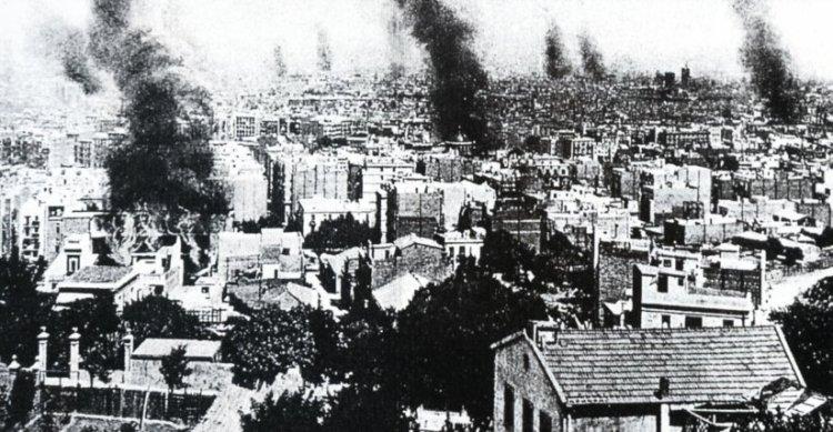 La Semana Trágica de Barcelona, uno de los sucesos del cambio que se experimentaba en 1909