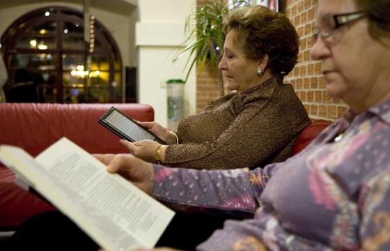 Una foto muy significativa de los hábitos lectores