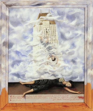 """""""El suicidio de Dorothy Hale"""", una de las obras principales de Frida Kahlo que aparece en la novela"""