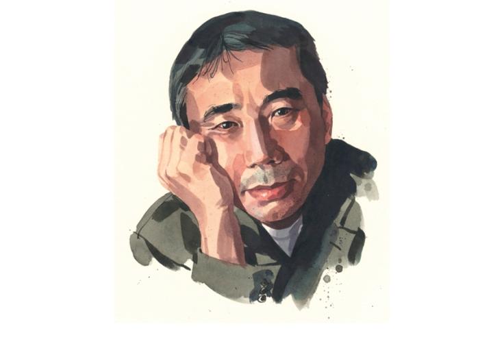 Una pintura de Haruki Murakami