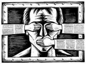Una imagen referente a la censura en prensa