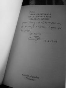 Dedicatoria de la autora, Elena Marqués