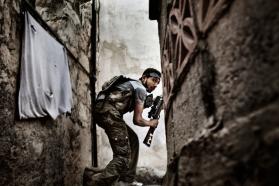 Foto en Siria del fotógrafo italiano Fabio Bucciarelli