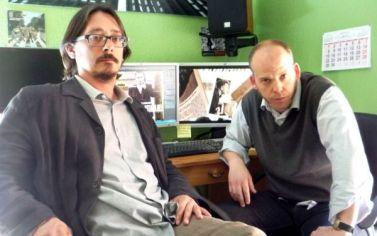Los autores y directores Daniel Suberviola y Luis Felipe Torrente