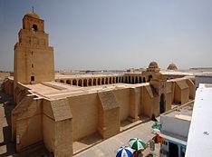La Gran Mezquita de Kairuán, en Túnez