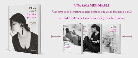 La saga Dos amigas, de Elena Ferrante