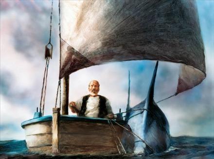 """""""El viejo y el mar"""" cuenta la lucha de un viejo marinero por pescar un gran pez"""