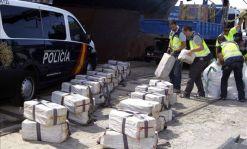 Una incautación de fardos de cocaína por la policía