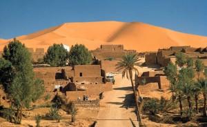 Uno de los paisajes del Sáhara donde se desarrolla la novela en 1975
