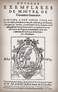 Una de las primeras portadas de las Novelas Ejemplares