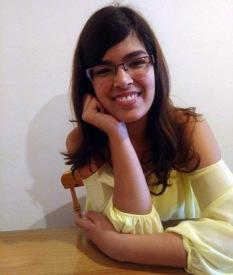 """La joven Aida Méndez García, autora de """"El Gato de Cheshire"""""""