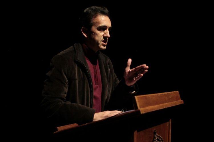 """Miguel Sande, autor de """"A candidata"""""""