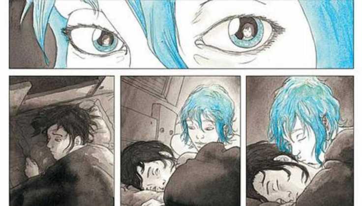 """Fragmento del cómic de Julie Maroh """"El azul es un coloc cálido"""""""