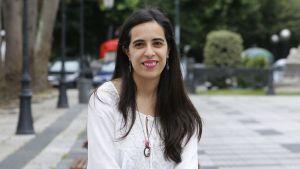 """Vanesa Santiago, autora de """"A vida sinxela de Marcelo Firmamento"""""""