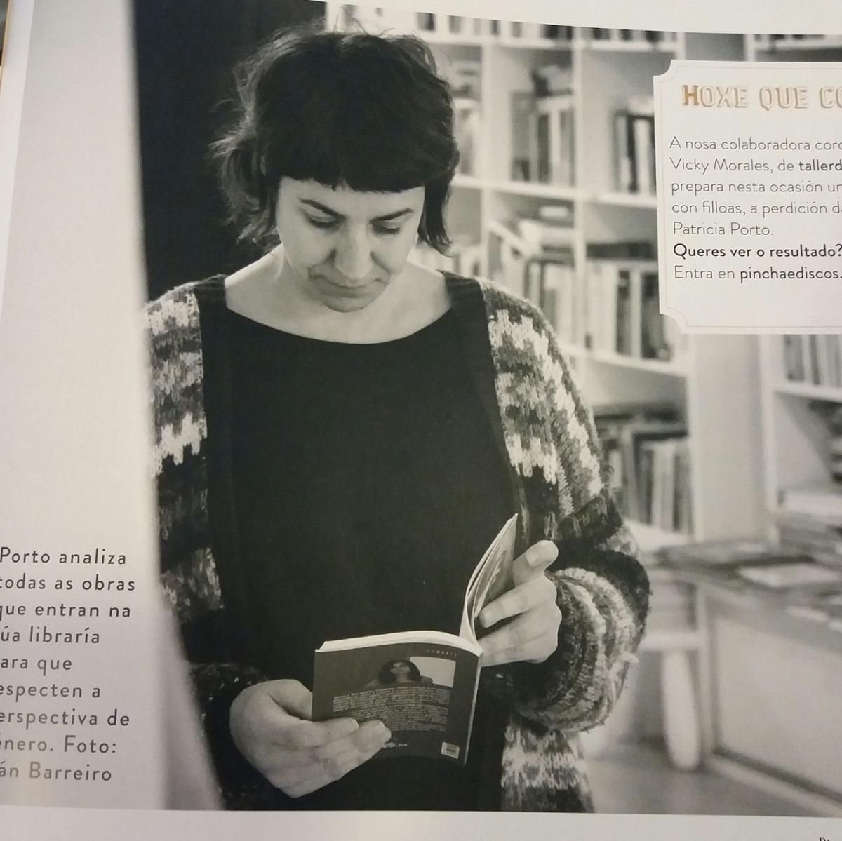 """Entrevista Patriza Portopaderne, da Libraría Lila de Lilith: """"Nós facemos un filtrado previo de todos os libros que recibimos para que encaixen na filosofía da libraría"""""""