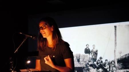 A poeta Antía Otero na pasada edición do Entreverbas