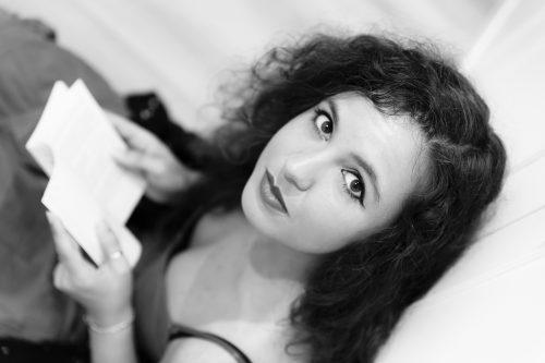 """Clara Vidal, autora do poemario """"Linguaxes dixitais"""""""