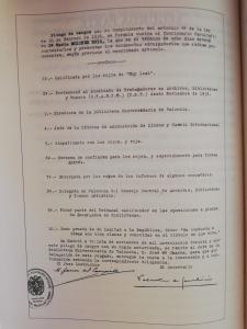 Pliego de cargos de María Moliner