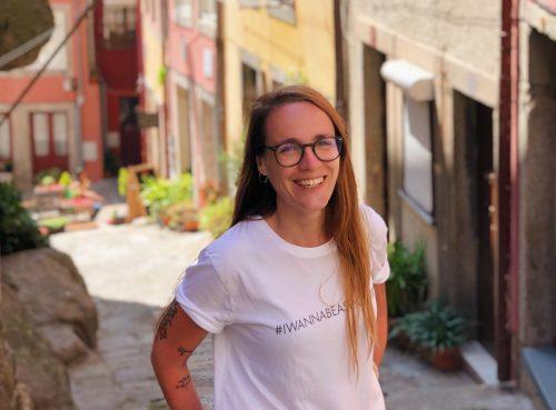 La traductora Ainize Salaberri