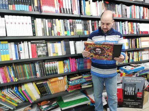 Fernando Miranda, da Libraría Miranda de Bueu