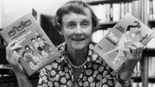 Astrid Lindgren, a escritora sueca creadora das aventuras de Pippi Mediaslongas