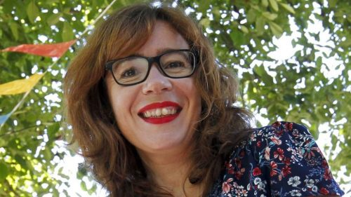 María do Cebreiro, autora do poemario 'A herba de namorar'