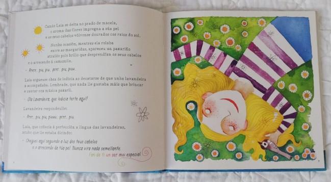 Interior do libro de Laia, de Baia Fernández de la Torre e Leandro Lamas