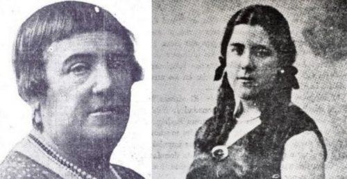 Aurora Rodríguez y su hija Hildegart