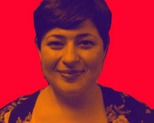 Lorena Conde, autora de O perfil na boca